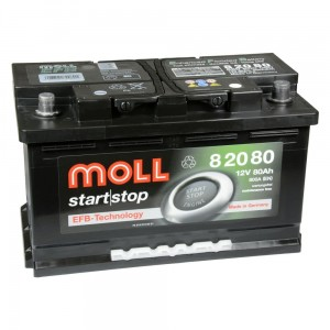 Akumulator  80Ah MOLL START|STOP EFB (82080)
